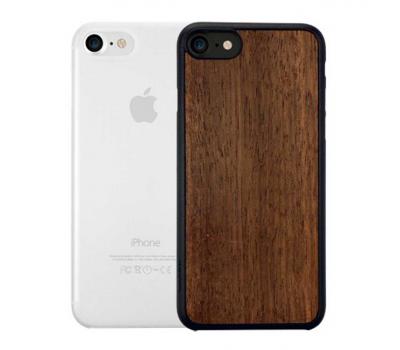 Набор из двух чехлов Ozaki Jelly и Ozaki Wood. для iPhone 7, прозрачный и темно-коричневый, фото 1