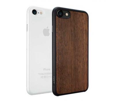 Набор из двух чехлов Ozaki Jelly и Ozaki Wood. для iPhone 7, прозрачный и темно-коричневый, фото 2