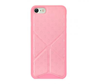 Чехол для iPhone 7 Ozaki O!coat 0.3 + Totem Versatile розового цвета