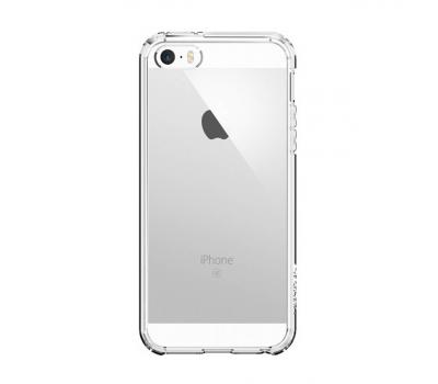 Чехол Spigen для iPhone 5/5s/SE Ultra Hybrid SGP10640. Кристально-прозрачный (ECO Package), фото 1
