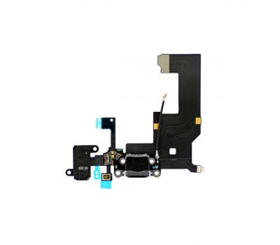 Шлейф зарядки, аудио, микрофона и антенны для iPhone 5, оригинал, черный, фото 1