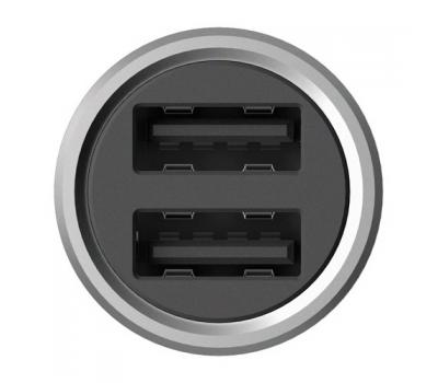 Автомобильное зарядное устройство Xiaomi Mi Car Quick Charger 3.0, 2 USB-A, 2.4A, серебристый, фото 2
