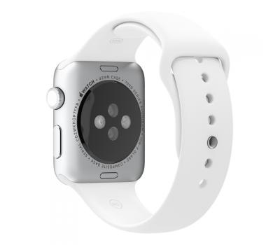 Фото спортивного ремешка для Apple Watch 42 мм, белого