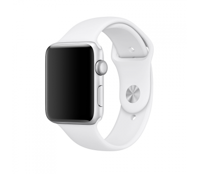 Ремешок спортивный для Apple Watch 42мм, оригинал, белый, фото 1