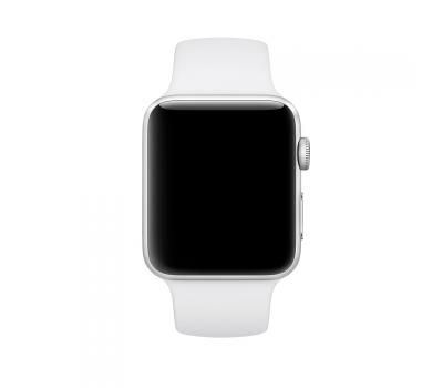Ремешок спортивный для Apple Watch 42мм, оригинал, белый, фото 2