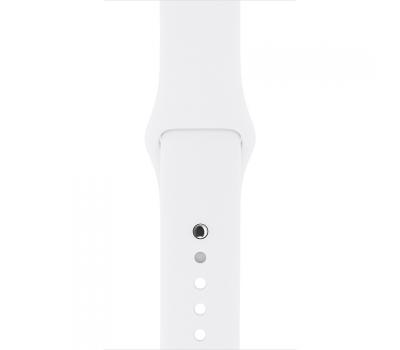 Ремешок спортивный для Apple Watch 42мм, оригинал, белый, фото 3