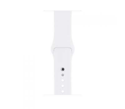 Apple Watch Series 1, 38 мм, серебристый корпус, белый спортивный ремешок, фото 1