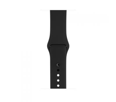 Apple Watch Series 1, 42 мм, корпус из алюминия цвета «серый космос», спортивный ремешок чёрного цвета, фото 2