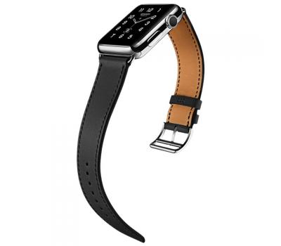 Ремешок для Apple Watch 42mm HOCO Platinum Lederen, черный, фото 1