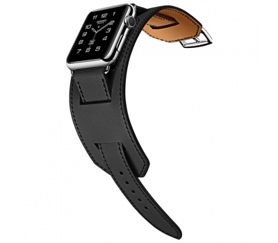 Ремешок для Apple Watch 42mm HOCO Platinum Lederen, черный, фото 2