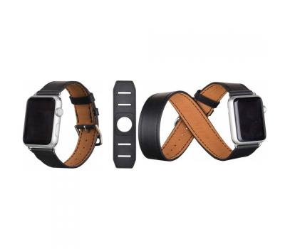Ремешок для Apple Watch 42mm HOCO Platinum Lederen, черный, фото 3