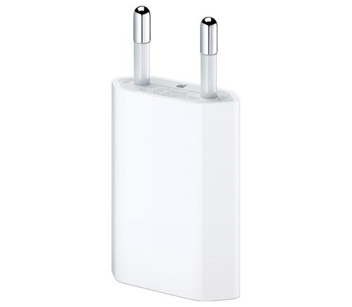 Сетевое зарядное устройство Apple, USB-A, 1A, оригинал, белый, фото 1