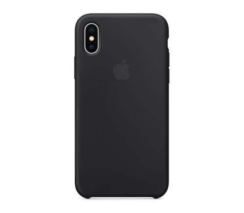 Чехол-накладка Apple для iPhone XS, силикон, чёрный, фото 1