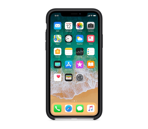 Чехол-накладка Apple для iPhone XS, силикон, чёрный, фото 2